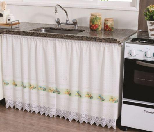 Como fazer cortina: Para pia