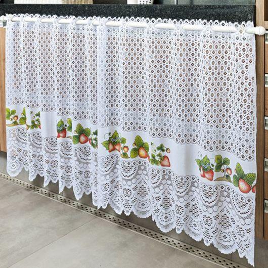 Como fazer cortina: Com renda para pia