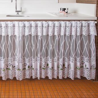 Como fazer cortina: Rendada para pia