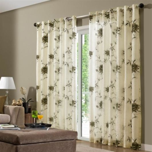Como fazer cortina: Branca para sala