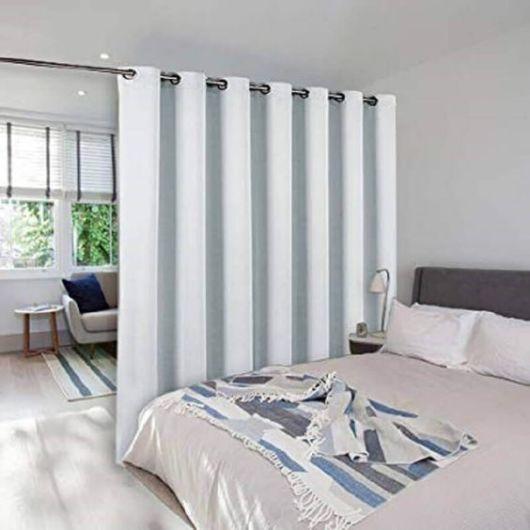 Como fazer cortina: Branca para quarto
