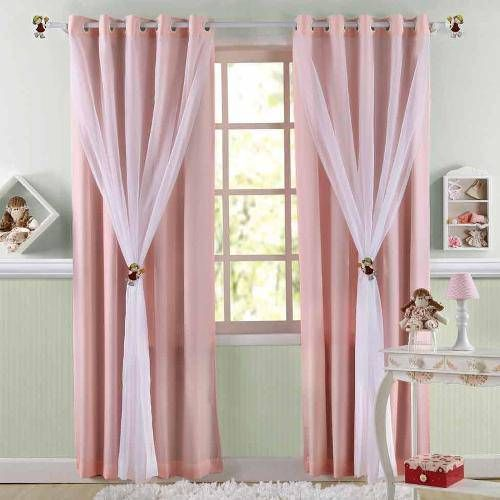 Como fazer cortina: Rosa para quarto