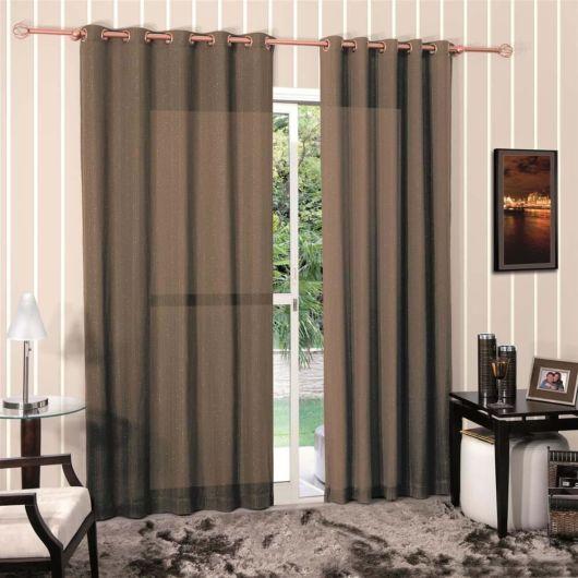 Como fazer cortina: Marrom para sala