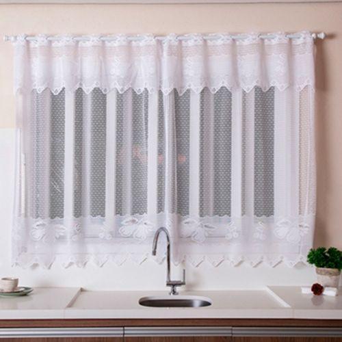 Como fazer cortina: Branca para cozinha