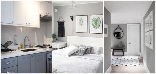 decoração em cinza e branco