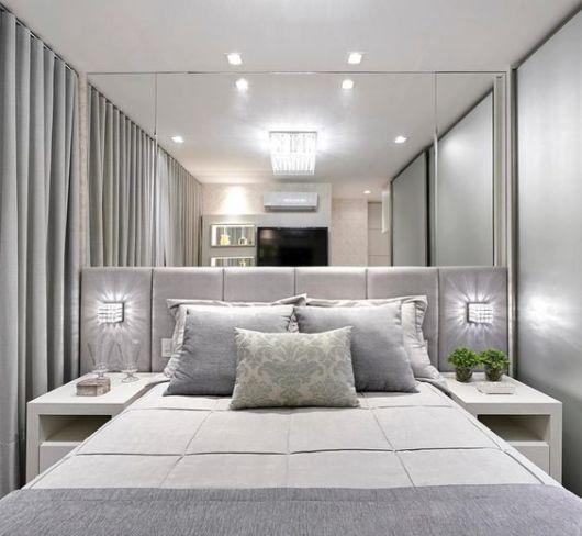 quarto moderno cinza
