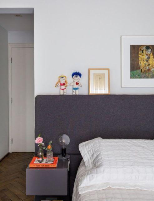 Você pode harmonizar o móvel perfeitamente com os outros móveis, como a cama