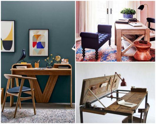 Dá para renovar a decoração com escrivaninhas de madeira