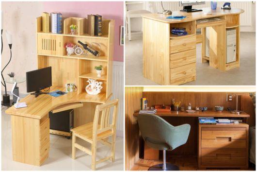 Conheça aqui diversas escrivaninhas de madeira para decorar sua casa!