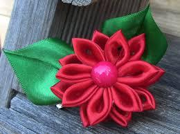 Flor de cetim: Dobrada vermelha
