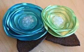 Flor de cetim: Queimada azul