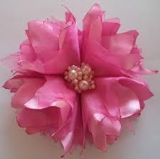 Flor de cetim: Queimada rosa
