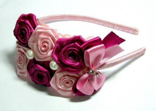 Flor de cetim: Tiara