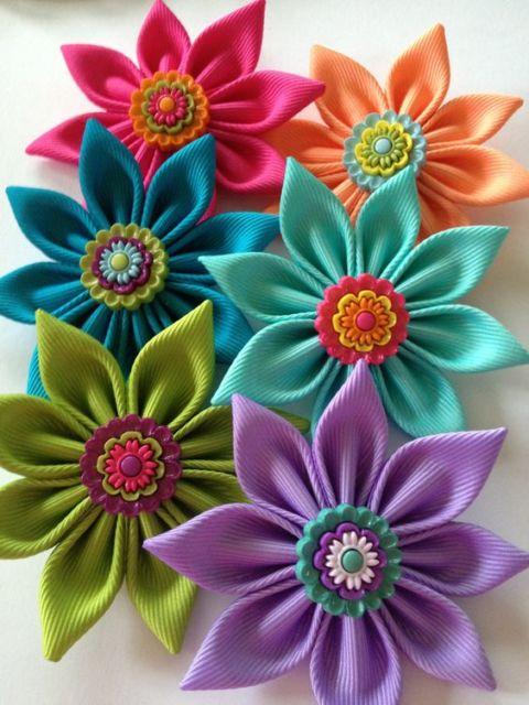 Flor de cetim: Lilás para cabelo