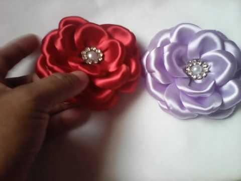Flor de cetim: Boleada lilás