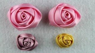 Flor de cetim: Dobrada rosa