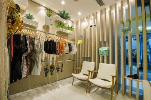 Decoração de loja de roupas