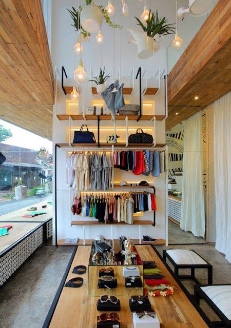 Decoração de loja pequena moderna
