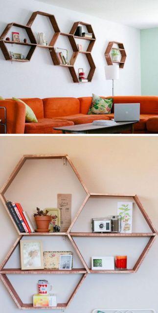 Esses nichos também combinam com salas