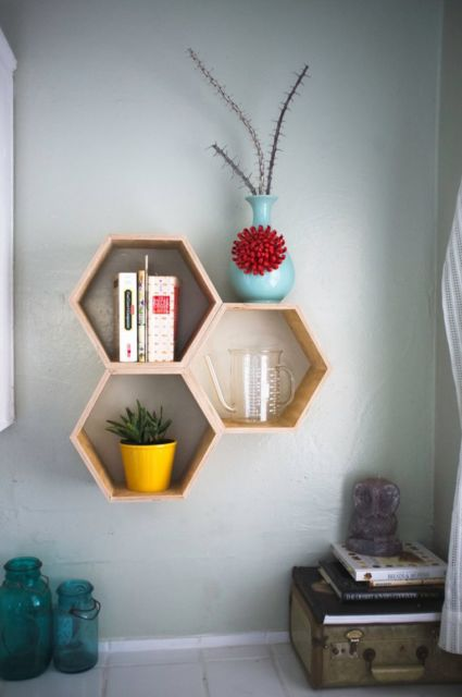 Dica de decoração com nicho estilo colmeia