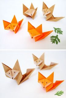 Origami fácil: Raposa