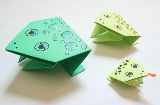 Origami fácil: Sapo