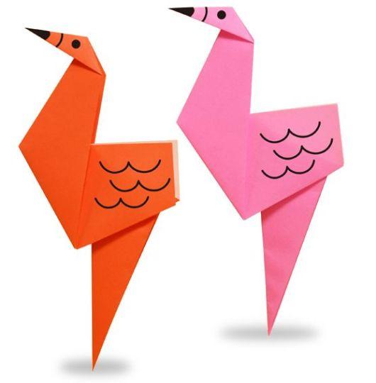Origami fácil: Flamingo
