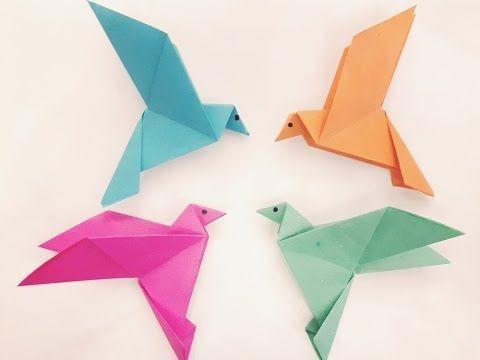 Origami fácil: Passáros