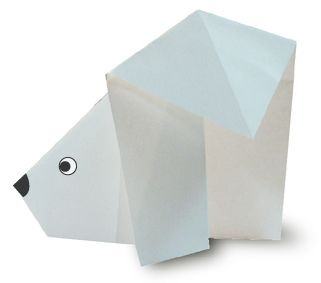 Origami fácil: Urso Polar