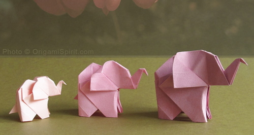 Origami fácil: Elefante