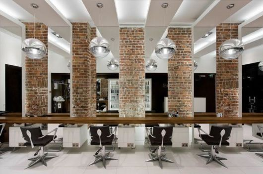 Dica de salão de beleza moderno decorado
