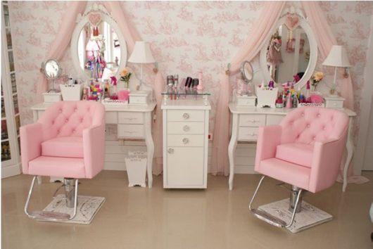 Inspiração de papel de parede para salão de beleza feminino