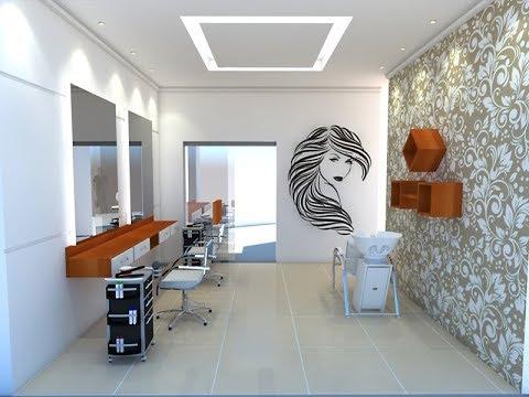 Combine papel de parede com adesivo temático para decorar o salão de beleza