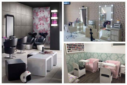 Os papeis de parede fazem toda a diferença nos salões de beleza