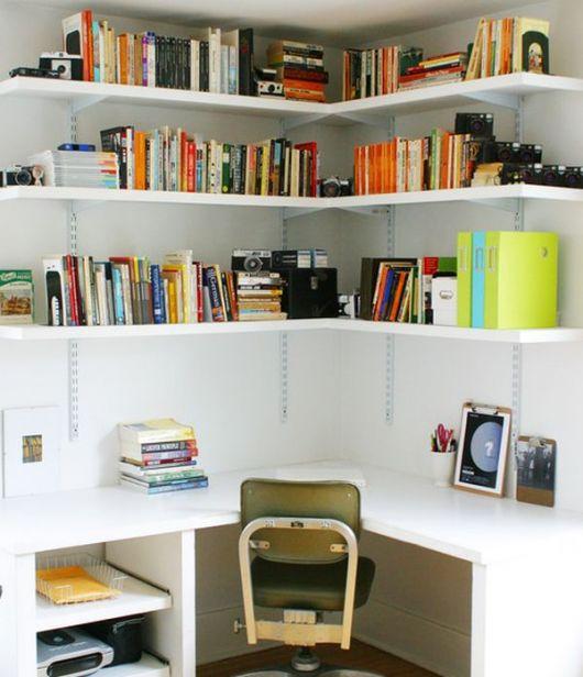 home office com livros