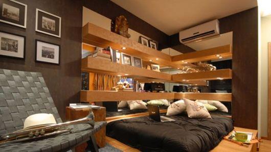 quarto de solteiro moderno