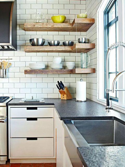 cozinha com azulejo metrô