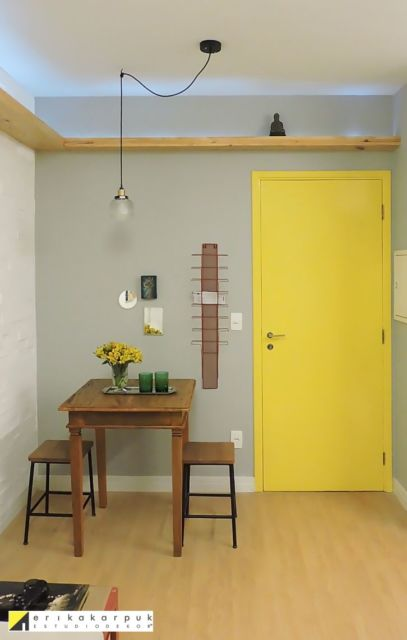 sala de jantar pequena e moderna