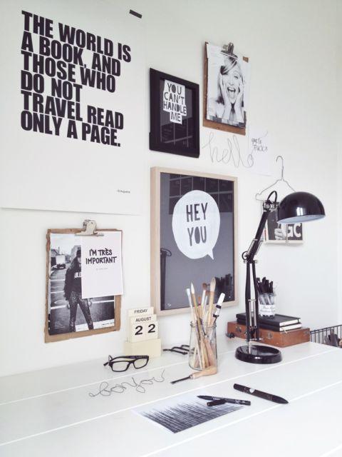 Você pode customizar os quadros para decorar seu home office
