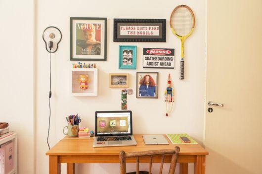 Você pode personalizar seu cantinho com seus quadros favoritos
