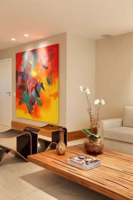 quadro colorido abstrato