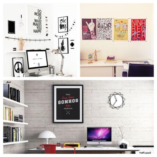 Seu home office fica mais bonito e moderno com esses quadros temáticos