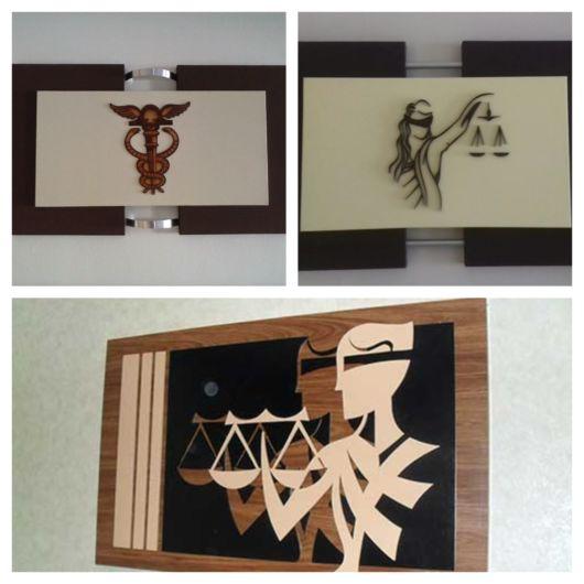 Alguns modelos populares de quadros para escritório de advocacia