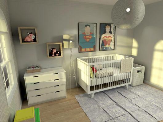 Use quadros, nichos e outras opções decorativas para dar um toque contemporâneo ao cômodo