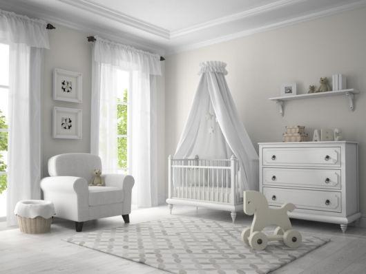 E para quem prefere um quarto branco, essa ideia é bem interessante