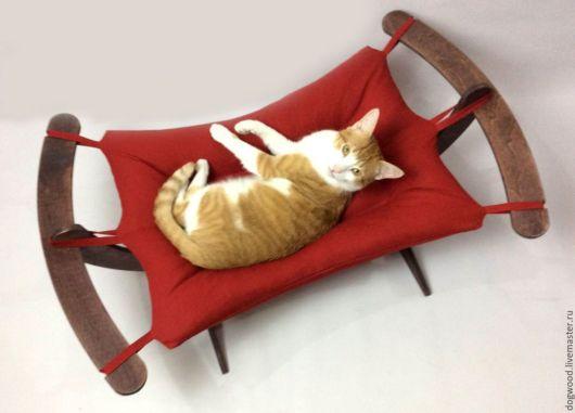 rede para gatos vermelha com suporte