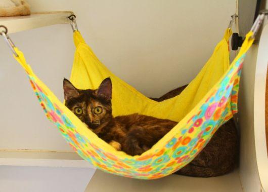 rede para gatos amarela simples