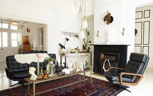 Sala retrô em um padrão sofisticado