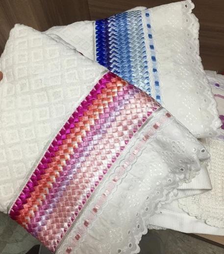Veja como as fitas fazem toda a diferença nas toalhas