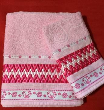 toalha bebês fitas de cetim
